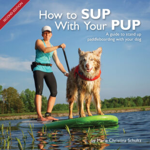 Learning how to stand up paddle (SUP) is one thing, and learning with a dog is a little more involved. Some dogs are naturals while others may need a little more training. Stand up paddling with your dog can be a rewarding experience for both of you, if it's done with a little preparation and planning. How to SUP With Your PUP guides you through simple training and is designed to make the learning process smooth and safe for human and pup. This concise guide includes everything you and your dog need to SUP–from types of gear to a full training plan. Available on Amazon.